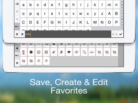 Special Characters Keyboard - (Symbols, Pictographs, Currency, Math, Punctuation, Bullets, Arrows, Parentheses & Numbers) Screenshot