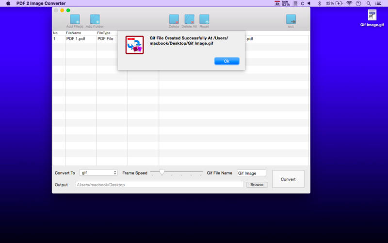 PDF 2 Image Converter : Convert PDF into JPG / PNG Easily, Create Animated Gif Files from PDF easily for Mac