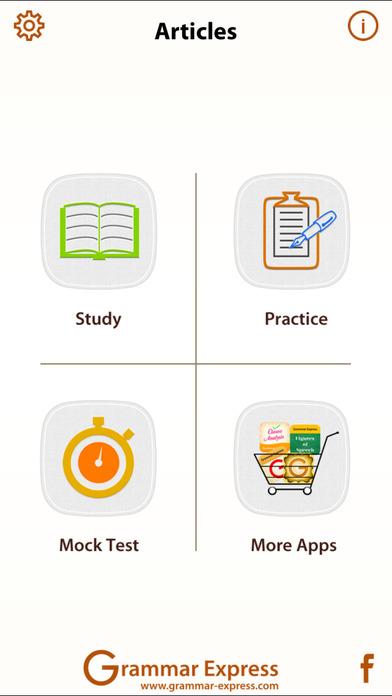 Grammar Express: Articles iPhone Screenshot 1