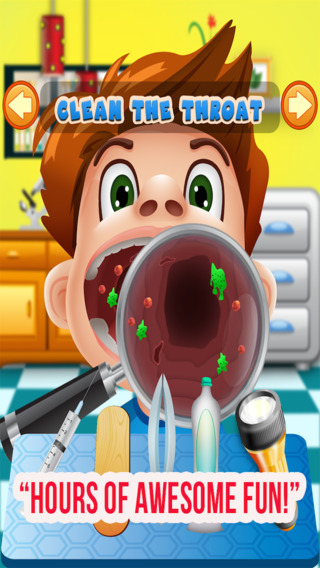 Throat Doctor Office - Fun Free Games for Little Kids