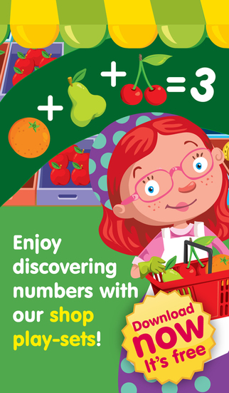 Shop Math - A store play set for kids to practice counting sums basic maths