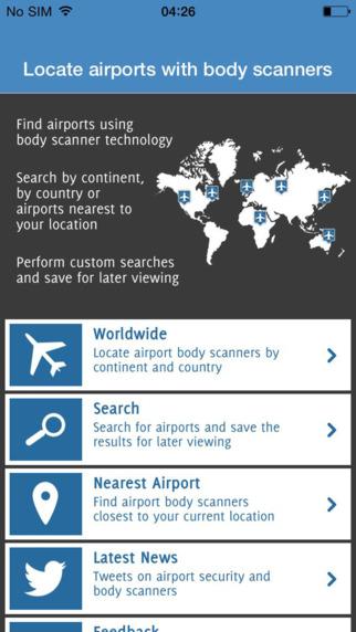 Airport Body Scanner Locator