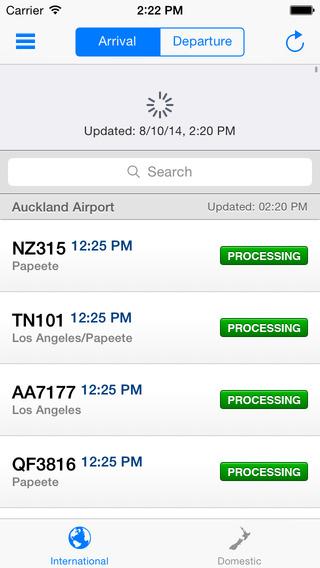 Auckland Airport Flight Information iPhone Screenshot 5