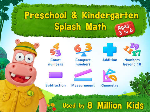 Preschool & Kindergarten Splash Math educational app #review