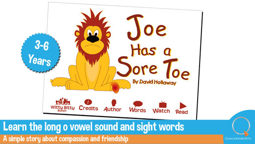 Read Rhyme: Joe Has a Sore Toe An interactive rhym