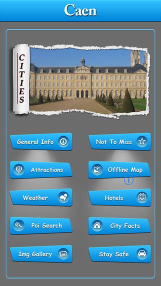 Caen Offline Map City Guide