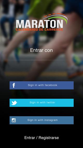 Maratón calendario de carreras de running
