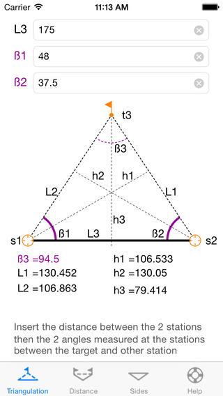 Triangle Utility iPhone Screenshot 1