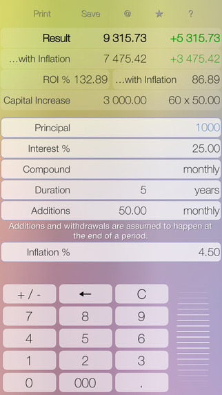 Deposit - compound interest calculator with periodic additions and withdrawals