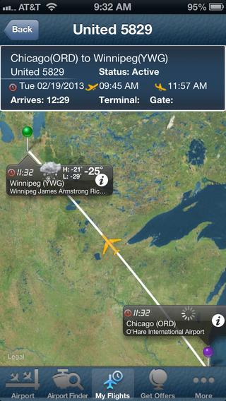 Winnipeg Airport+Flight Tracker Bearskin Calm air Canada