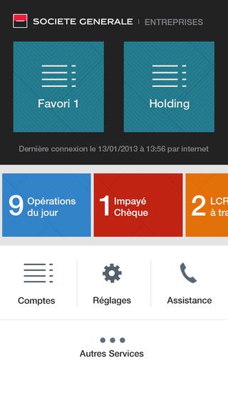 Sogecash Net Société Générale - consultation des comptes bancaires et des opérations clés de votre e