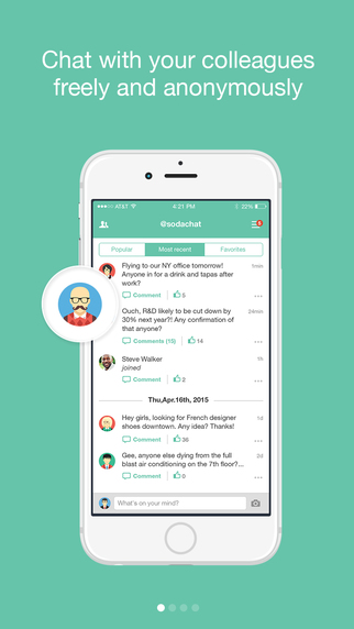 Sodachat - anonymous company chat