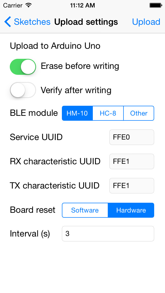 Apploader upload arduino sketches over ble ios