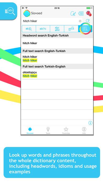 Turkish <-> English Talking SlovoEd Classic Dictionary iPhone Screenshot 2