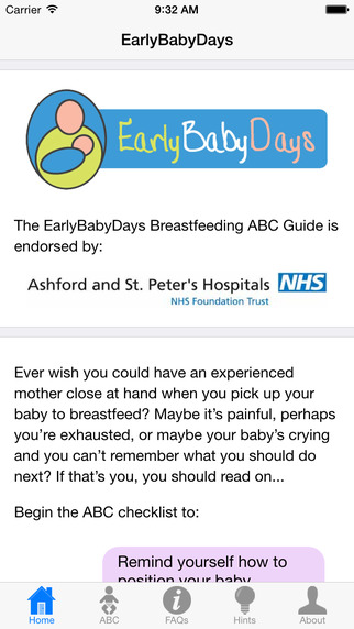 Breastfeeding ABC by EarlyBabyDays