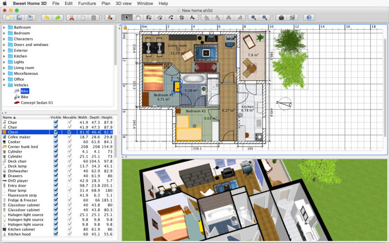Screenshot 2Sweet Home 3D On The Mac App Store
