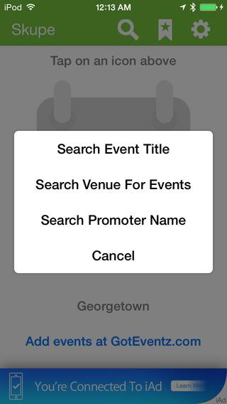 Scoop Events App
