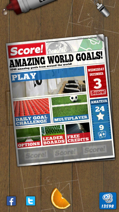 Screenshots of Score! World Goals for iPhone