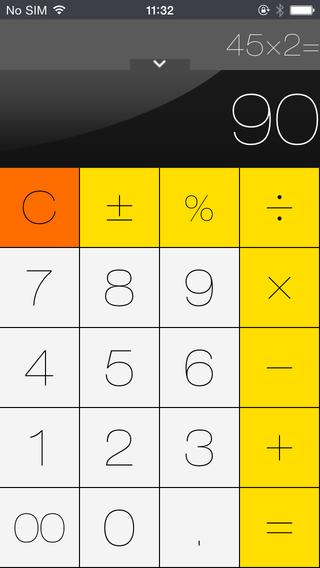 Calculator Free for iOS 8