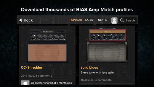 BIAS Amp for iPhone Apps for iPhone/iPad screenshot