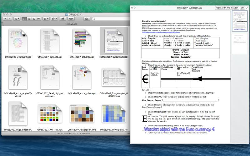 XPS-Reader Screenshot - 1