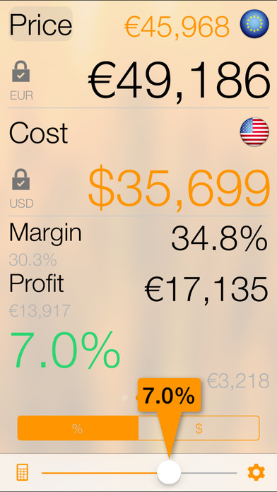iDealCalc - Margin & Markup Analysis Calculator iPhone Screenshot 2