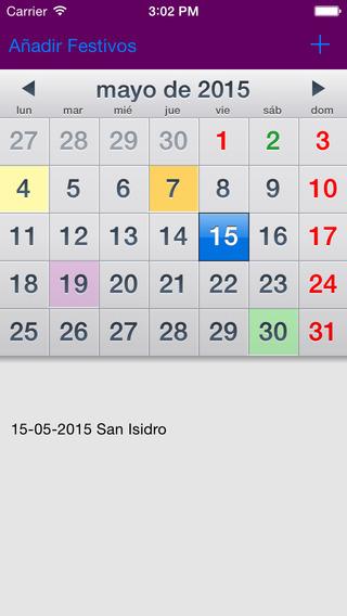 Calendario Laboral España 2015 AdFree