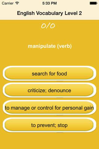 English Vocabulary-Acquiring Communication Skills screenshot 3