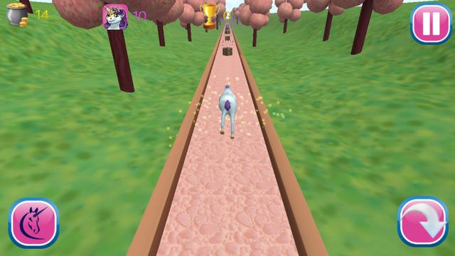 Cute Unicorn Run 3D
