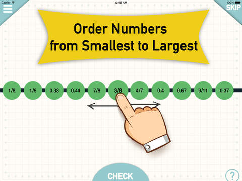 Number Line - Order Fractions Decimals Whole Numbe