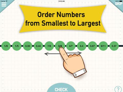 Number Line - Order Fractions Decimals Whole Numbe