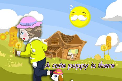 动画的主角是一个可爱的小女孩.
