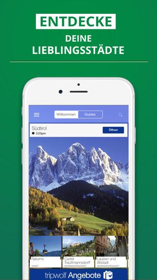 Südtirol - dein Reiseführer mit Offline Karte von tripwolf Guide für Sehenswürdigkeiten Touren und H