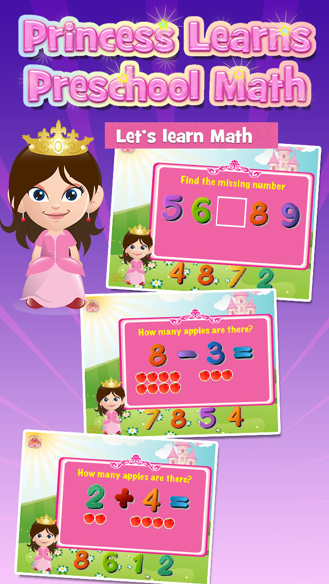 Princess Learns Preschool Math: Free Learning Activity for Kids - Educational App