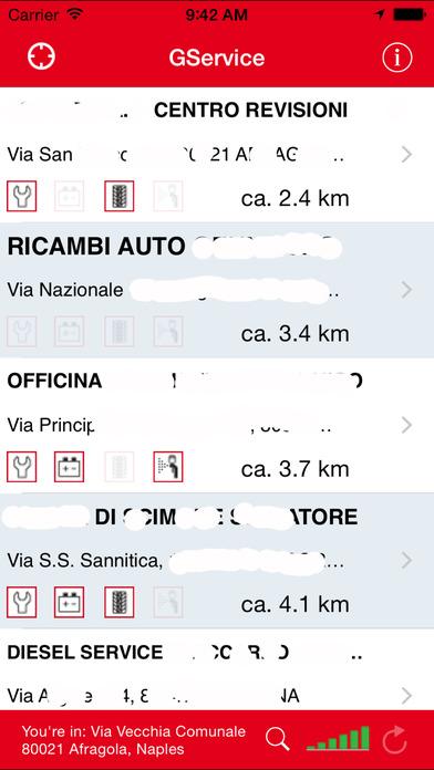 GService iPhone Screenshot 3