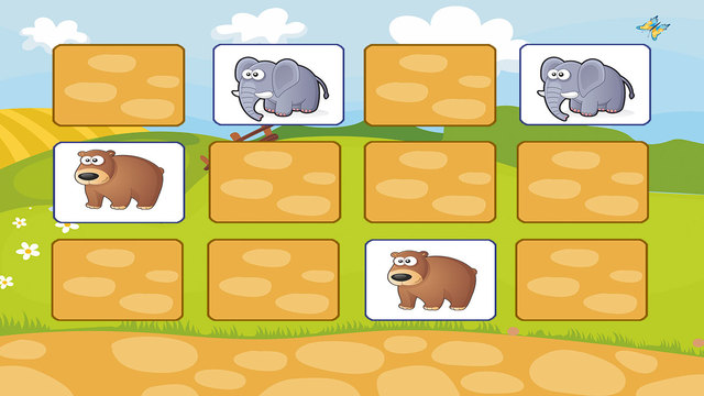 Find a couple - simulator memory training educational games for kids and toddlers free