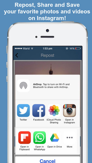 Reposter - Save Repost unlimited photos and videos with out watermark for instagram