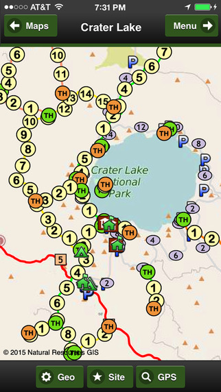 Crater Lake Trail Map Offline