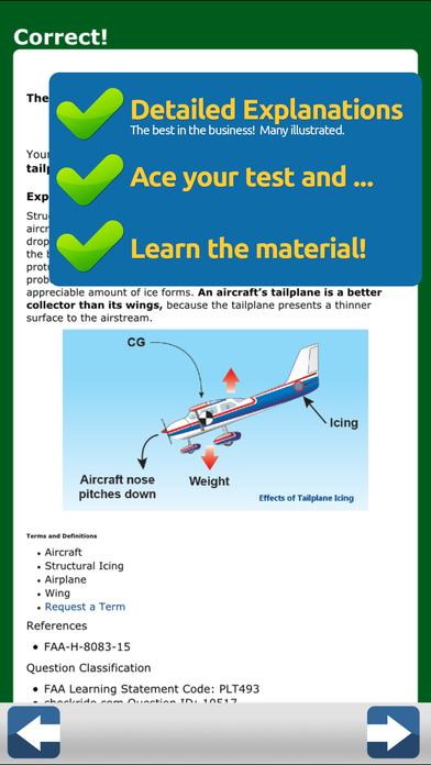 GroundSchool FAA Knowledge Test Prep - Commercial Pilot iPhone Screenshot 4