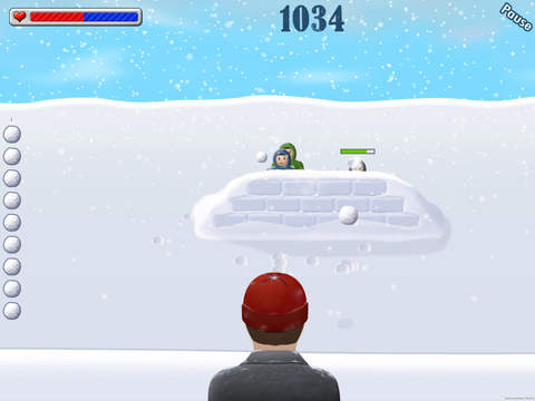 Snowball Wars! iPad Screenshot 2