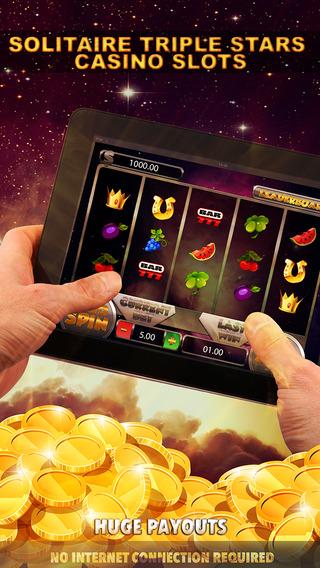 Solitaire Triple Stars Casino Slots - FREE Las Vegas Games