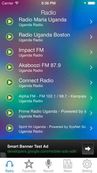 Uganda Radio News Music Recorder