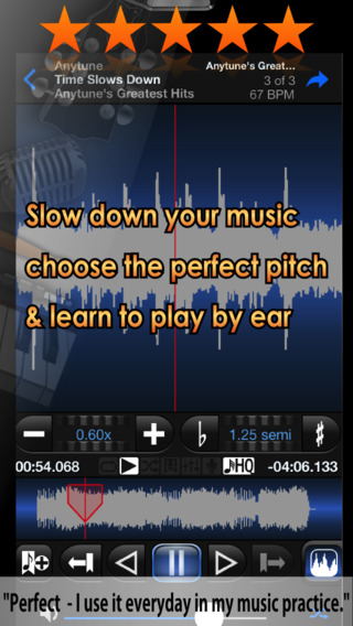Anytune Pro+ - Slow Downer Music Practice Perfected - The ultimate training tool for learning any in