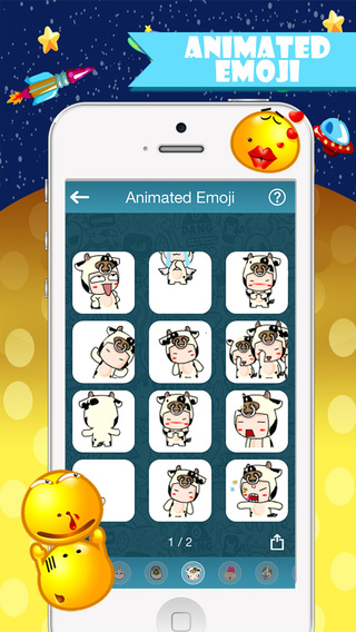 Emojis Life -Animated Gifs Emoticons Arts New Cool Fonts Keyboard