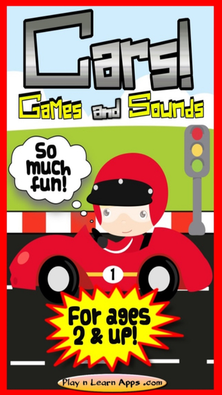 Car Sounds Daredevil Cars Racing Games For Kids Toddlers