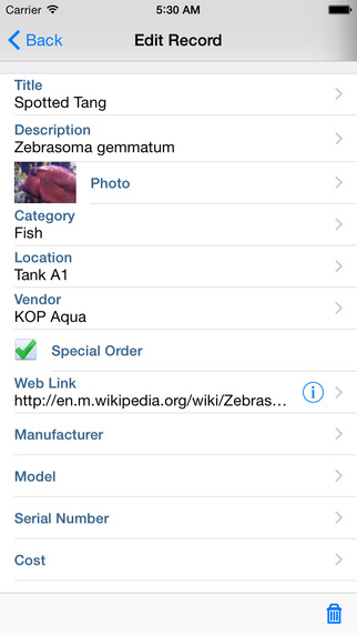 Klisto LE - Mobile Database
