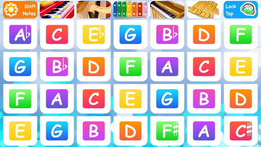 Baby Chords - preschool musical instruments play center app with free piano songs lullabies music ga