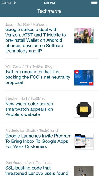 TM Reader - Read Techmeme on Mobile