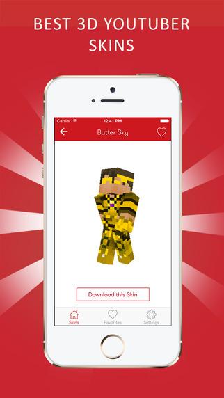 Best 3D Youtuber Skins for Minecraft PE Lite