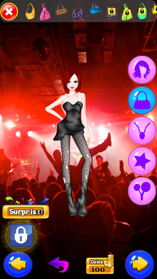Rockstar Girls Rock Roll Makeover Club: Crazy High Fashion Band with Guitar Jeans Music